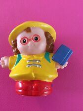 Mattel Fisher-Price Little People 2008 School Bus Girl Maggie in Yellow Raincoat