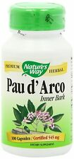 Nature's Way Pau D'Arco Inner Bark Capsules 545mg 100 Count NEW Free Shipping