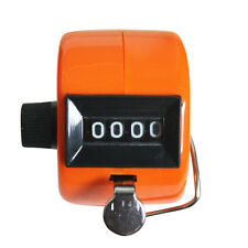 The Win Hand Held Tally Digit Mechanical Clicker Counter Orange
