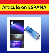A LINTERNA ULTRAVIOLETA para billetes falsos discotecas mini UV 9 LEDs backlight