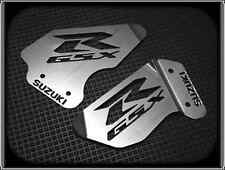 HEEL PLATES for SUZUKI GSXR 600, 750 & 1000, 2000 to 2003 (POLISHED FOOT GUARDS)