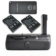 Battery Grip Pack + 2 x EN-EL14 Battery + IR Remote for Nikon D5100 D3100 Camera