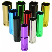 """10 PC 3/8"""" Drive 10 MM TO 19 MM Deep Wall Color Coded Metric Socket Set"""