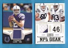 ANDREW LUCK ROOKIE JERSEY + COBY FLEENER PATCH & DWAYNE ALLEN LAUNDRY TAG CARD