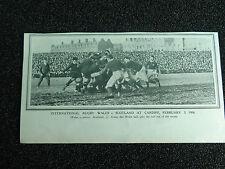 "WALES v SCOTLAND @ Cardiff 1906 RUGBY UNION Approx 7""x 4"" ORIGINAL PRINT"