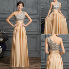 SEQUINS Long Formal Bridesmaid Evening Gown Prom Cocktail Party Wedding Dress 8#