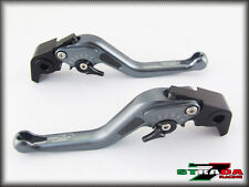 Kawasaki ZRX1100 1200 1999 - 2007 Strada 7 Short Carbon Fiber Inlay Levers Grey