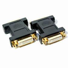 Female to Socket DVI-I Coupler - Use with any DVI Cable-PC/Laptop Adapter Joiner
