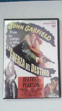 """DVD """"LA FUERZA DEL DESTINO"""" JOHN GARFIELD ABRAHAM POLONSKY"""
