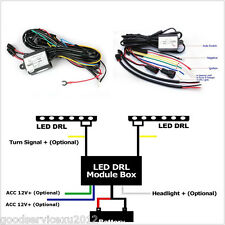 Autos DRL LED Fog Light Automatic ON/OFF Controller Module Box Relay Harness Kit