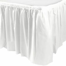 14ft Plastic WHITE Table Skirt wedding party