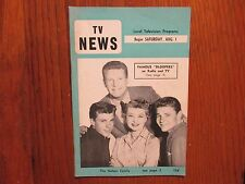 Aug. 1-1959 Indianapolis TV News Mag(OZZIE AND HARRIET/JACK KELLY/RICKY  NELSON)