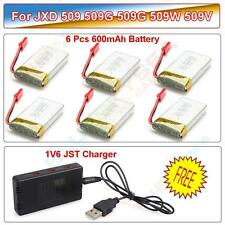 6Pcs 3.7V 600mAh Lipo Battery+6in1 Charger for JXD 509G 510G RC Quadcopter Drone
