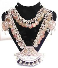 KUCHI TRIBAL ETHNIC NECKLACE BELLY DANCE BANJARA SET JEWELRY INDIA GYPSY BOHO