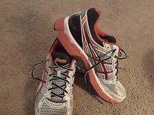 Asics T308N 0121 GT 3000 MN's M White Black Red Synthetic Mesh Running Shoes sz