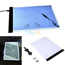 A4 LED Thin Art Stencil Board Light Box Tracing Drawing Pad + USB Cable +Adapter