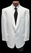 NEW Mens Size 52 X-Long Classic White 2 Button Shawl Jacket Formal Wedding
