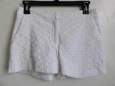 DIANE VON FURSTENBERG FABIOLA EYELET SHORT, White, Size 0, MSRP $175