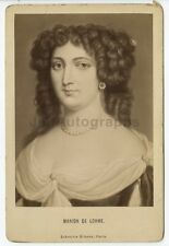 Marion Delorme - French Courtesan - Original 19th Century Portrait Cabinet Card