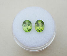 Peridot Oval Loose Gem Pair 8x6mm each