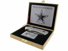 Folding Knife and Flip top Lighter Gift Set - Dallas Cowboys