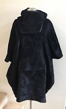 New w/Tags ZERO + MARIA CORNEJO Black Pei Hooded Wool Poncho Coat Size S/M