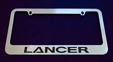 MITSUBISHI LANCER LICENSE PLATE FRAME, CUSTOM MADE OF CHROME (Zinc Metal)
