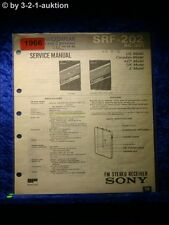 Sony Service Manual SRF 202 Receiver  (#1966)