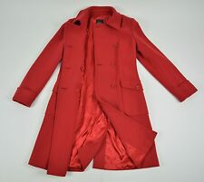 Auth Max Mara Weekend Women`s Wool Lined Red Coat Jacket Size USA 10 GB 12 D 40