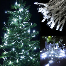 New 30 LED String Fairy Lights Xmas Battery Powered Static/Flashing Bright White