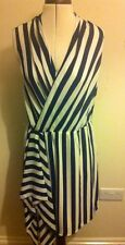 BNWT Oasis blue and white strip dress size 12 RRP £48
