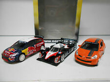PACK 3 C4WRC + 908 HDI+ CLIO SPORT NOREV 3 INCHES 1/64
