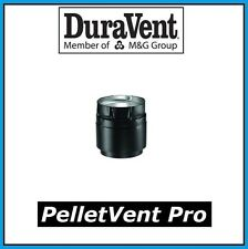 "DURAVENT PELLETVENT PRO Pipe 3"" Diameter Black Appliance Adapter #3PVP-ADB NEW!"