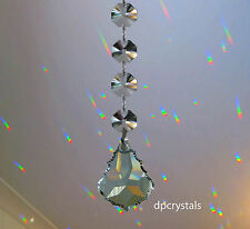 Suncatcher Rainbow Prism Feng Shui Hanging Crystal with 4 Swarovski Octagons