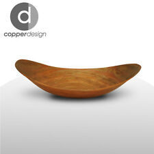 """Hand Hammered Copper Canoa Bath Vessel Sink 18""""x12"""""""