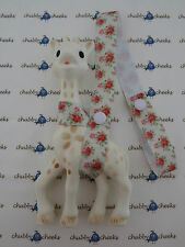 Sophie The Giraffe Harness Toy Saver Strap Leash, Vintage Floral