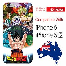 iPhone 6 6S Soft Silicone Cover Case Dragon Ball Z DBZ Goku Villains Freeza Buu