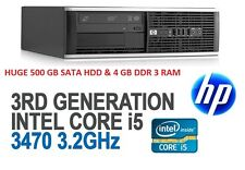 HP ELITE 8300 SSF I 3RD GEN INTEL® CORE™ I5-3470 3.2GHz-4GB RAM-500GB HDD I DVD
