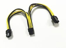 16AWG PCI-E Dual 6pin Female to 8 pin Male Video Card Power Adapter Cable 24cm