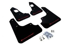Rally Armor Mud Flaps Guards for 08-15 Lancer EVO X (Black w/Red Logo)
