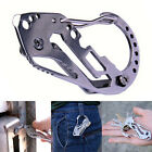 Multifunction Quickdraw Tool EDC Stainless Carabiner Guard Keychain Key Holder