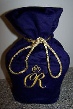 CROWN ROYAL SPECIAL RESERVE PURPLE VELOUR VELVET BAG DRAWSTRING 750 ML FREE SHP!