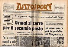 rivista TUTTOSPORT - 26/02/1968 N. 56 JUVE MAGNUSSON