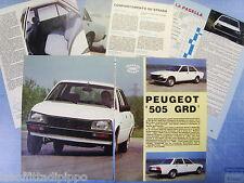 QUATTROR982-PROVA SU STRADA/ROAD TEST-1982- PEUGEOT 505 GRD -5 fogli