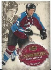 2008-09 Artifacts CHRIS STEWART #293 496/999 Rookie Colorado Avalanches