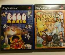Lot 2 jeux PS2 Eggo mania Escape from Monkey island PAL Complet