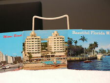 MIAMI BEACH FL (3Postcards including Sherry Frontenac  ,waterways ,collins ave