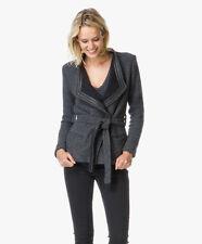 Iro cooley tweed belted jacket fr 38 uk 10