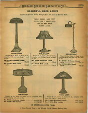 1926 PAPER AD Hand Woven Reed Lamp Lamps Floor Table Bridge Gate Leg Table Tea