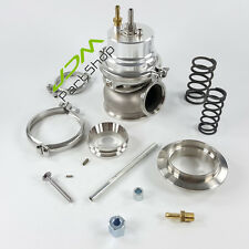 New Adjustable Silver Turbocharger Turbo  External 60mm Wastegate+V-Band Kits
